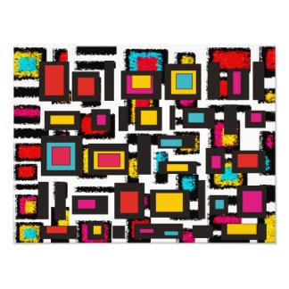 El extracto colorido ajusta arte cojinete