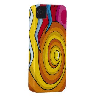 El extracto colorido remolina caja intrépida de iPhone 4 Case-Mate cárcasa