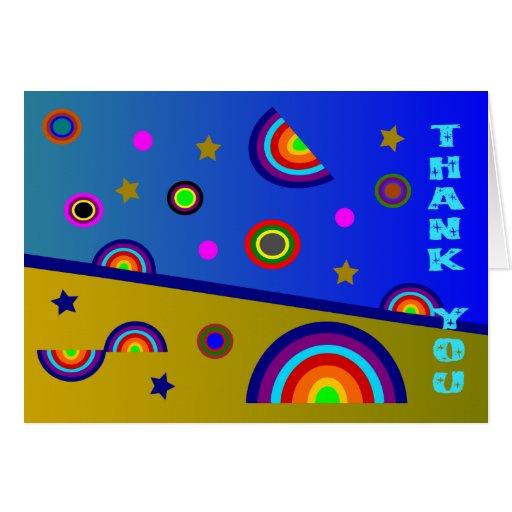 El extracto de la playa del arco iris le agradece  tarjeton