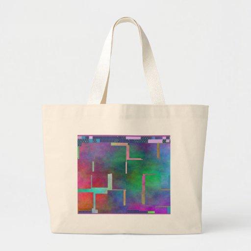 El extracto del arte de Digitaces del arco iris de Bolsa Tela Grande