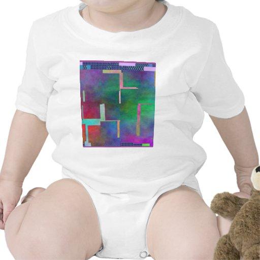 El extracto del arte de Digitaces del arco iris de Camisetas