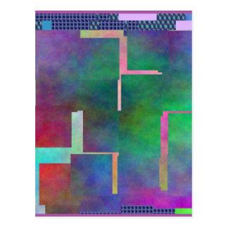 El extracto del arte de Digitaces del arco iris Postales