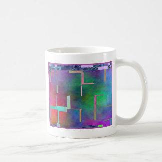 El extracto del arte de Digitaces del arco iris Taza De Café