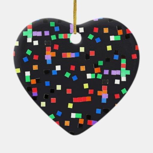 El extracto del niño adorno de cerámica en forma de corazón