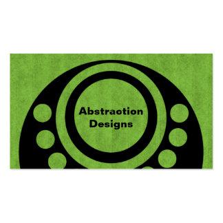 El extracto dimensiona la tarjeta de visita, verde