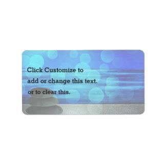 El extracto empiedra el fondo en azul etiqueta de dirección