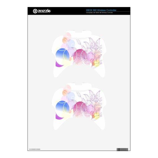 El extracto florece a Lilly blanco Mando Xbox 360 Calcomanía