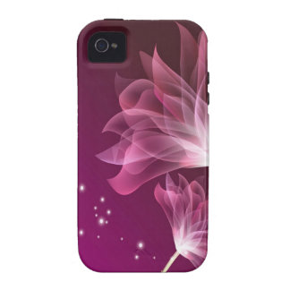 El extracto florece amistad púrpura vibe iPhone 4 carcasa