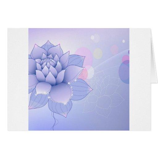 El extracto florece el agua azul Lilly Tarjeta De Felicitación