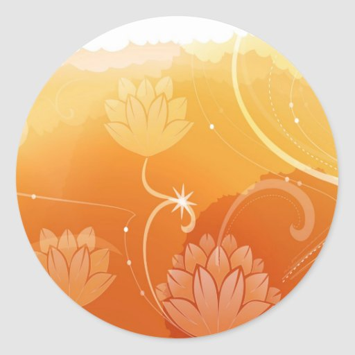 El extracto florece el agua caliente Lilly de los Etiquetas Redondas