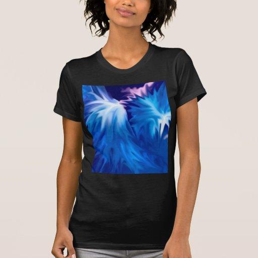 el extracto florece el azul camisas