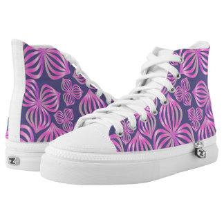 el extracto florece el azul rosado inconsútil + zapatillas