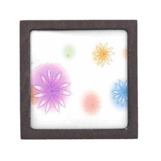 El extracto florece el chapoteo blanco caja de recuerdo de calidad
