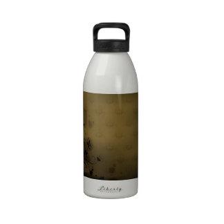 El extracto florece la cortina de bronce de los co botella de agua