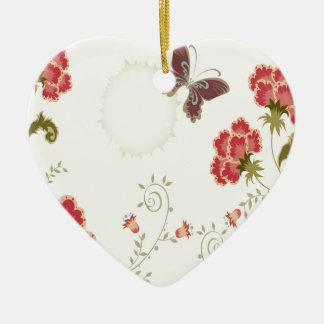 El extracto florece la mariposa blanca del verano ornamento para arbol de navidad