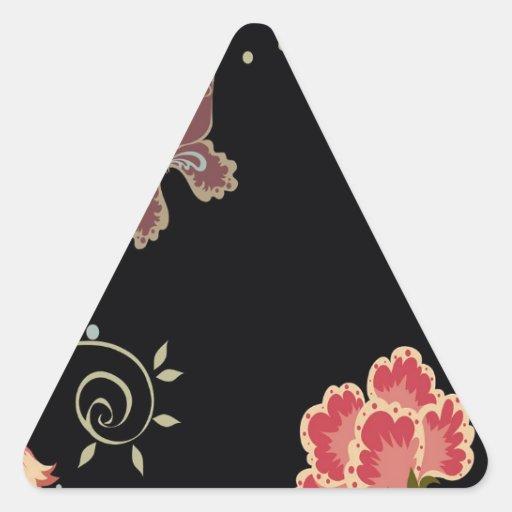 El extracto florece la mariposa negra de los pegatina triangular