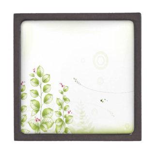 El extracto florece la planta blanca cajas de joyas de calidad