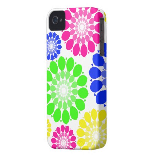 El extracto florece las cajas del iPhone iPhone 4 Protectores