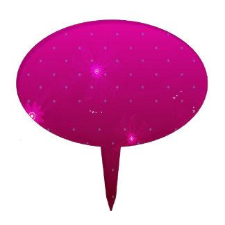 El extracto florece púrpura se relaja figuras para tartas