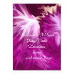 el extracto florece rosa invitación 12,7 x 17,8 cm