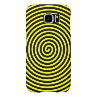 El extracto hipnotizó amarillo negro fundas samsung galaxy s6