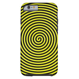 El extracto hipnotizó amarillo negro funda para iPhone 6 tough