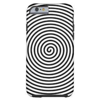 El extracto hipnotizó blanco negro funda de iPhone 6 tough