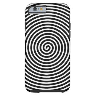 El extracto hipnotizó blanco negro funda para iPhone 6 tough
