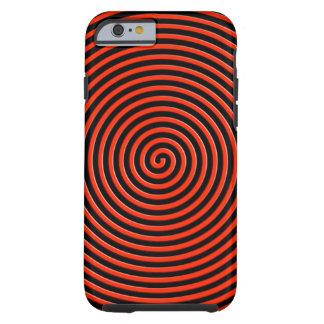 El extracto hipnotizó rojo funda de iPhone 6 tough