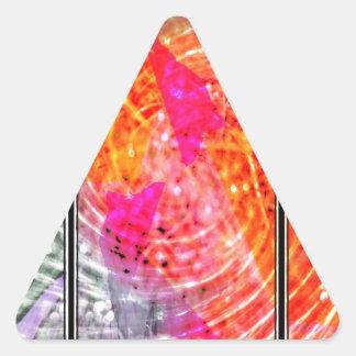 El extracto llamó a Bliss Pegatina Triangular
