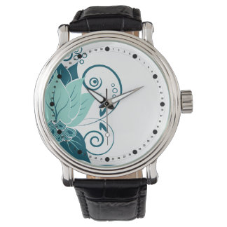 El extracto moderno se va (la turquesa del trullo relojes de mano