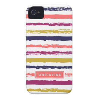 El extracto pintado raya el monograma iPhone 4 Case-Mate cárcasa