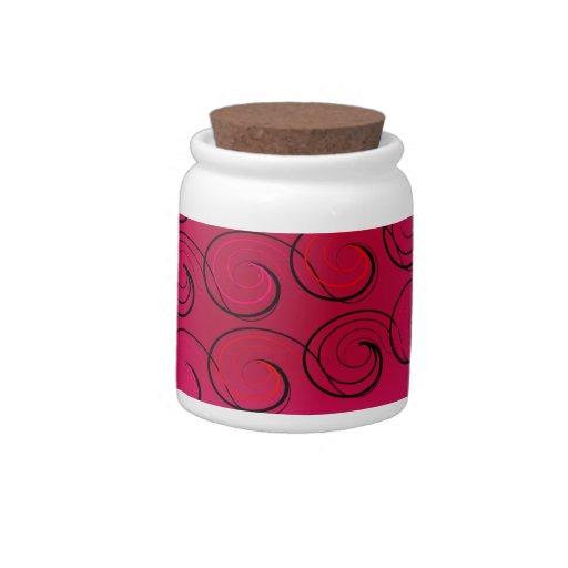 El extracto remolina en la magenta jarra para caramelo