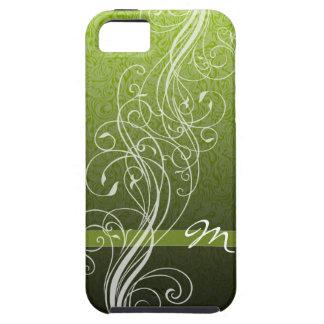 El extracto remolina en verde claro con el iPhone 5 Case-Mate carcasa