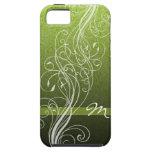 El extracto remolina en verde claro con el monogra iPhone 5 Case-Mate carcasa