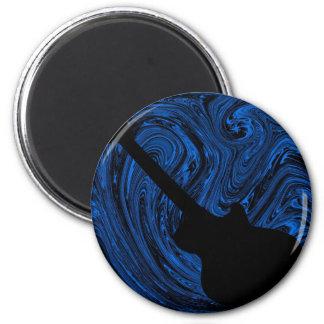El extracto remolina imán de la guitarra, azul