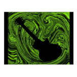 El extracto remolina postal de la guitarra, verde