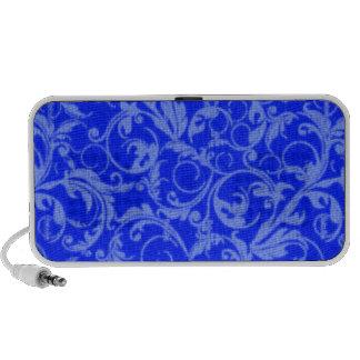 El extracto retro remolina Portable azul del zafir Mini Altavoces