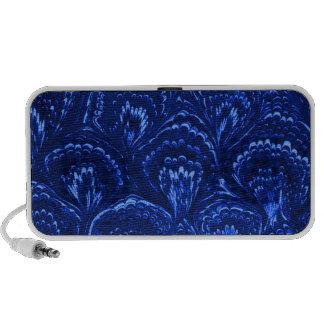 El extracto retro remolina Portable azul del zafir Portátil Altavoces