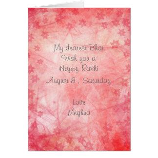 El extracto rosado elegante alinea las flores tarjeta de felicitación