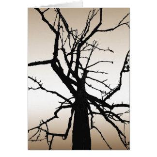 El extracto superior del árbol le agradece cardar tarjeta pequeña
