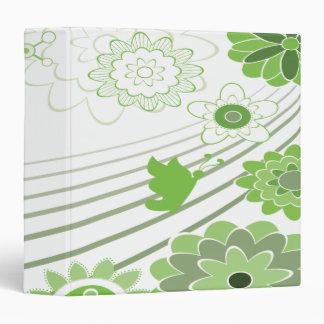 el extracto verde florece el cuaderno