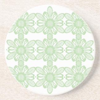 El extracto verde florece el práctico de costa posavasos manualidades