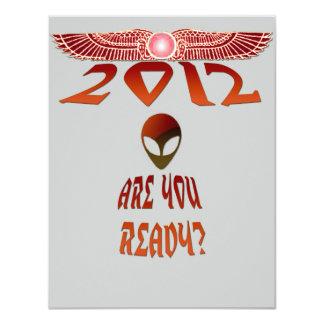 """¿El extranjero 2012 es usted alista? Invitación 4.25"""" X 5.5"""""""