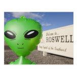 El extranjero inflable con la recepción a Roswell  Postal