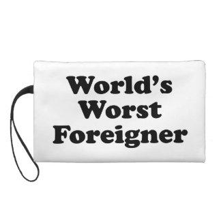 El extranjero peor del mundo