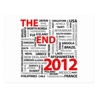 El extremo 2012 tarjetas postales