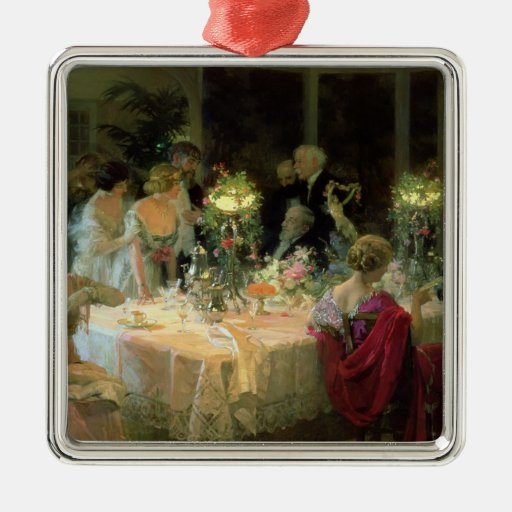 El extremo de Dinner, 1913 Ornaments Para Arbol De Navidad