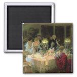 El extremo de Dinner, 1913 Imán Cuadrado