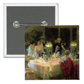 El extremo de Dinner, 1913 Pin Cuadrado